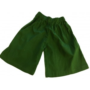 Kids Plain Green Shorts Ages 1 - 5 - Fair Trade