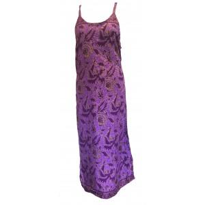Beautiful Purple Strappy Balinese Bird of Peace Sundress/Shift Dress with Ties
