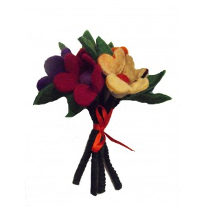 Fair Trade Handmade Felt Flower Bouquet