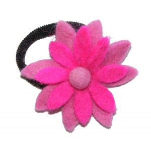 Hand made Felt Chrysanthemum Flower Hair Accessory - Fair Trade