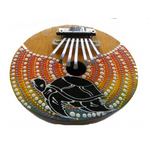 Brightly Painted Coconut  Kalimba / Thumb piano / Mbira