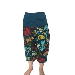 Fair Trade Sea Green Cotton Cropped 3/4 Length Beach Trousers