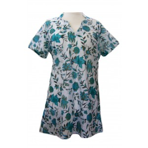Cotton Flower Print Kaftan Top - Beautiful Emma Print - Fair Trade