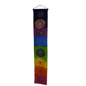 Rainbow Batik Seven Chakra Hanging - Hand made in Bali - Fair Trade